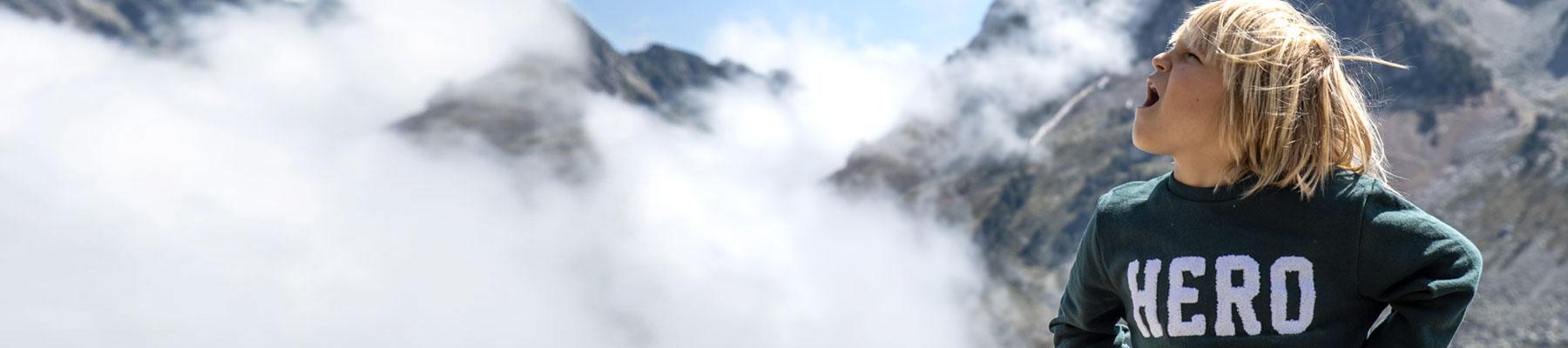 Kulkea Kid's Ski Boot Bags - Might Fun Child in Mountains