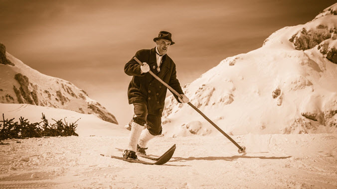 Evolution Of Skiing Old Time