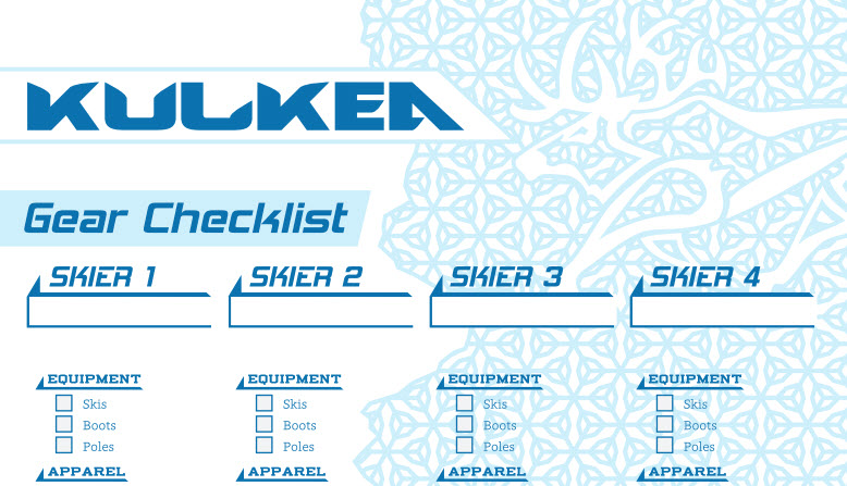 Ski Checklist