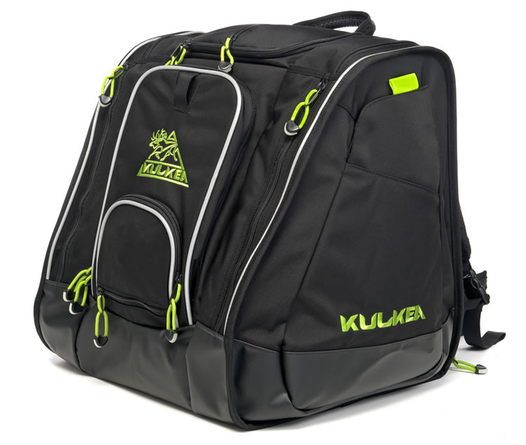 Kulkea Ski Boot Bag Black Green