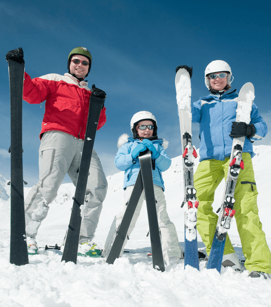 Tips skiing with children