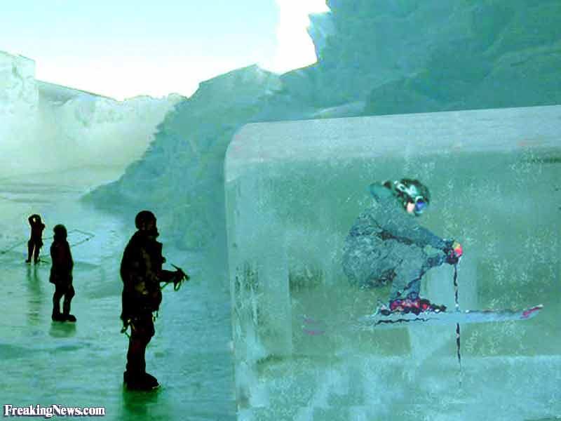 Frozen skier prevent frost