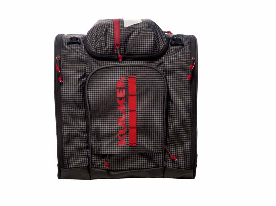Black Red Ski Boot Bag Kulkea 4