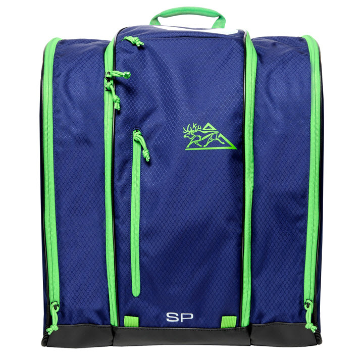 Ski Boot Backpack Blue Green Speed Pack Kulkea