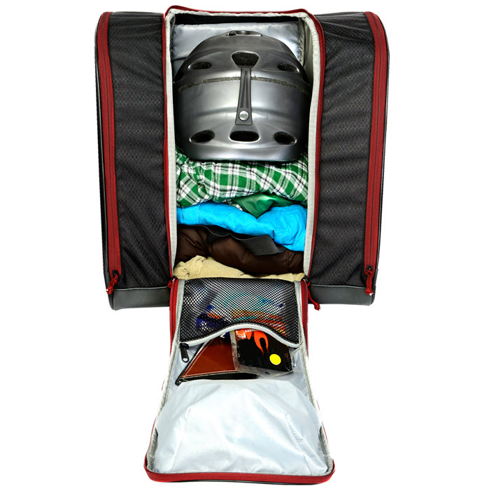 Ski Boot Bag Gear Storage Kulkea Speed Pack Black Red