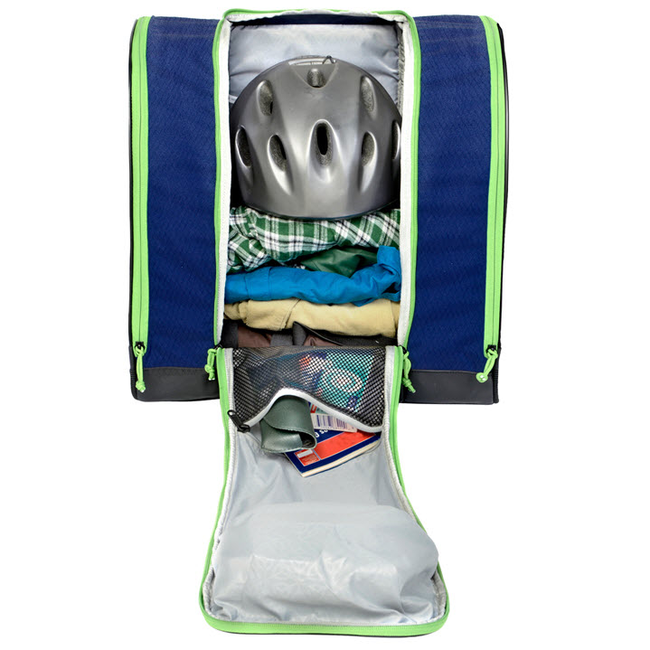 Ski Boot Bag Gear Storage Kulkea Speed Pack Blue Green