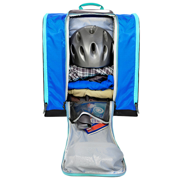 Ski Boot Bag Gear Storage Kulkea Speed Pack Ocean Blue Grey