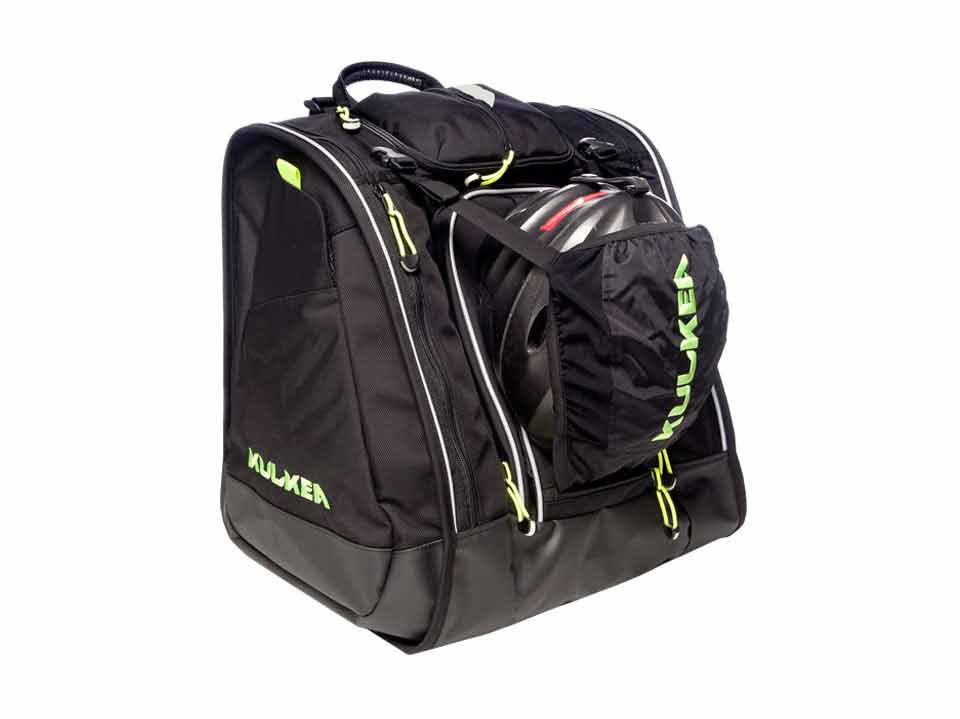 Ski Boot Helmet Bag Black Green Boot Trekker Kulkea 3531