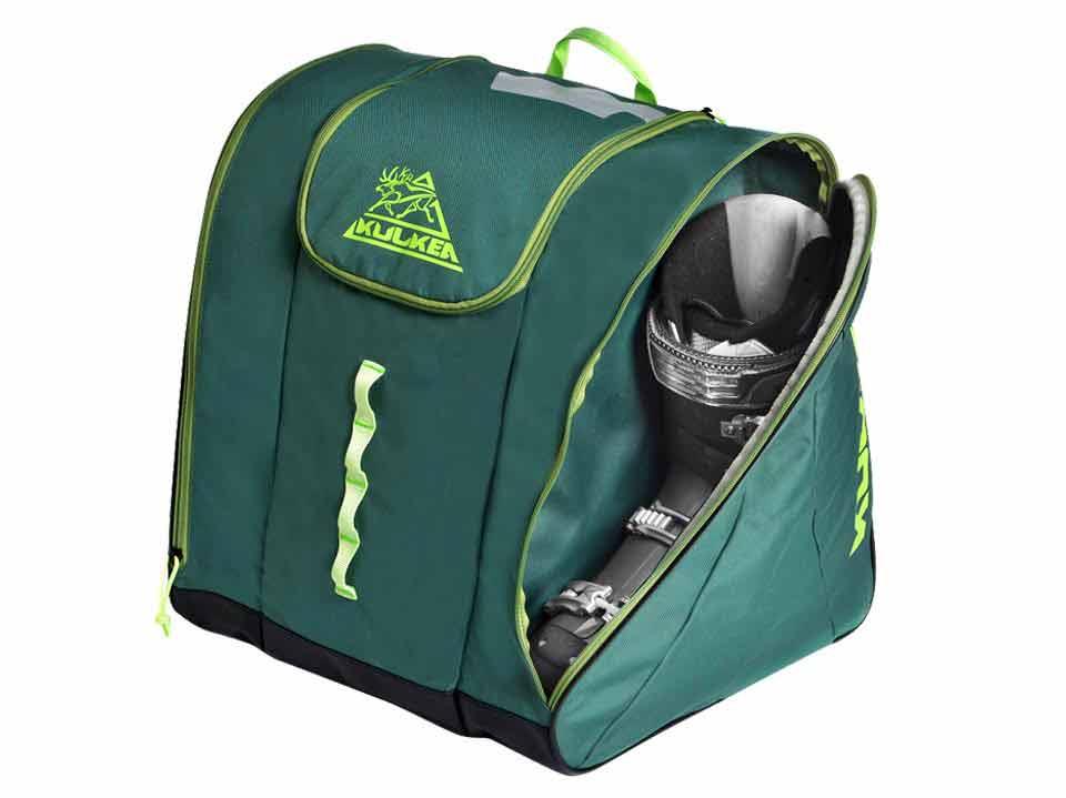 Green Ski Boot Backpack Kulkea Talvi 3384a