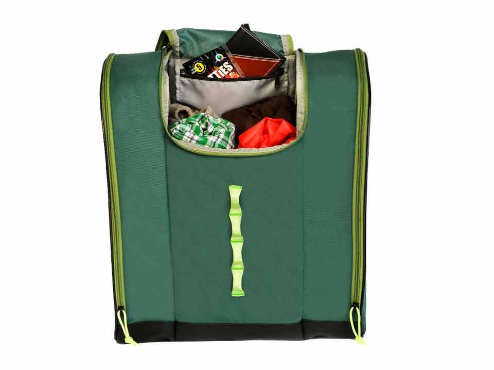 Green Ski Boot Backpack Talvi Kulkea 3387a