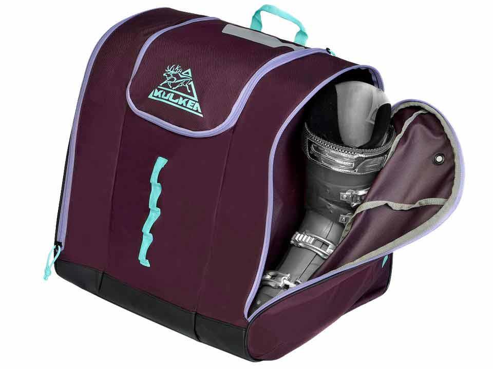 Purple Ski Boot Bacakpack Kulkea Talvi 3409