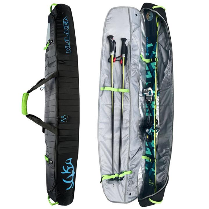 Durable Ski Bag Kulkea Kantaja Black Blue
