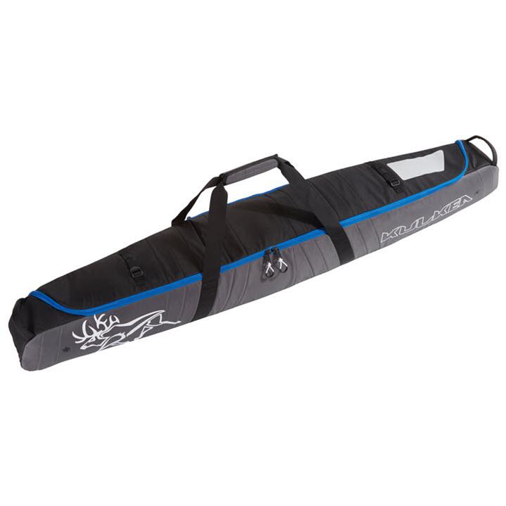 Padded Durable Ski Bag Kulkea Kantaja Black Grey