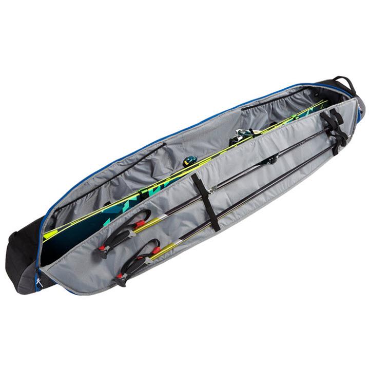 Padded Ski Bag Poles Gear Kulkea Kantaja 2020 Black Grey
