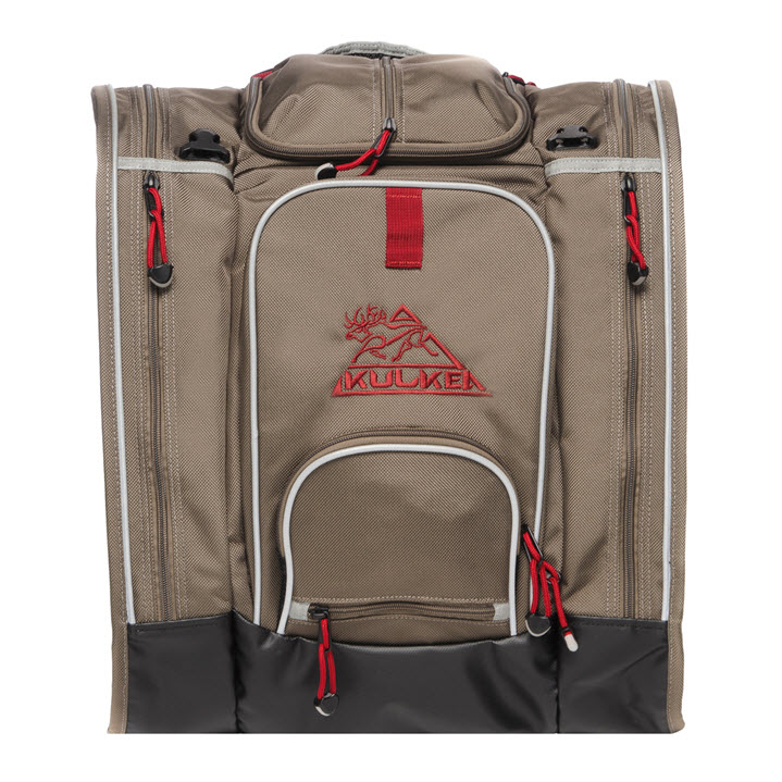 Ski Boot Bag Backpack Kulkea Boot Trekker Tan Black Red