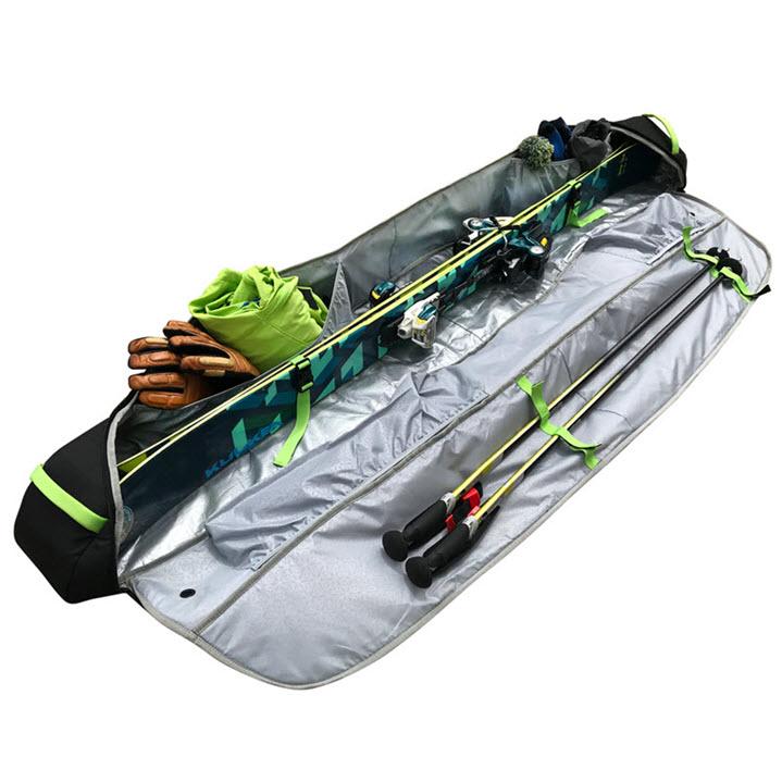 Ski Gear Bag Kulkea Kantaja Black Blue