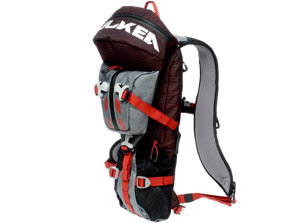 Ski Backpack Micro Pack Grey Red Kulkea 5266