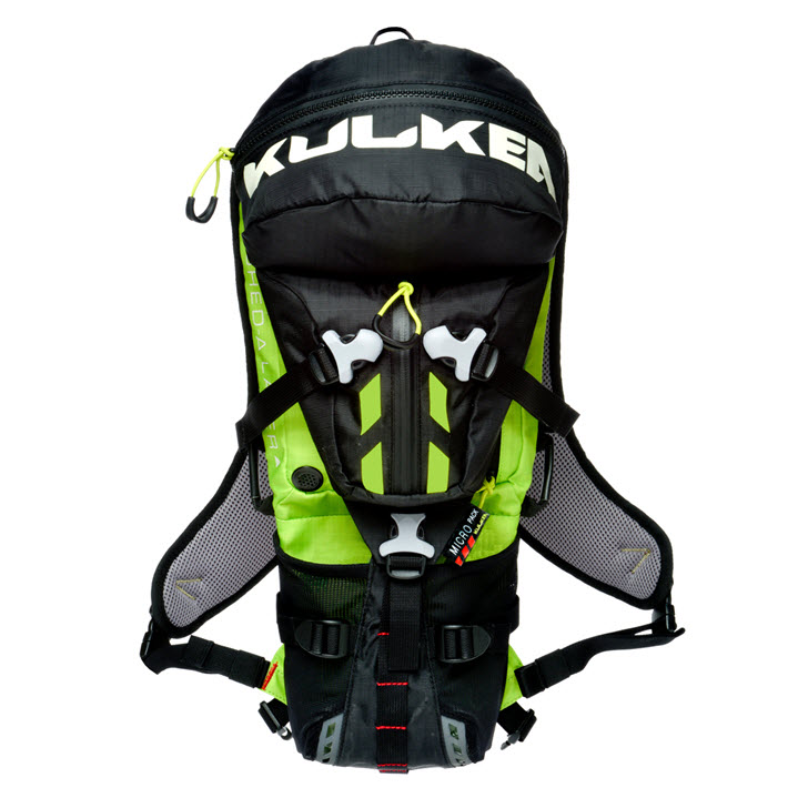 Small Active Sport Backpack Kulkea Micro Pack Neon Black