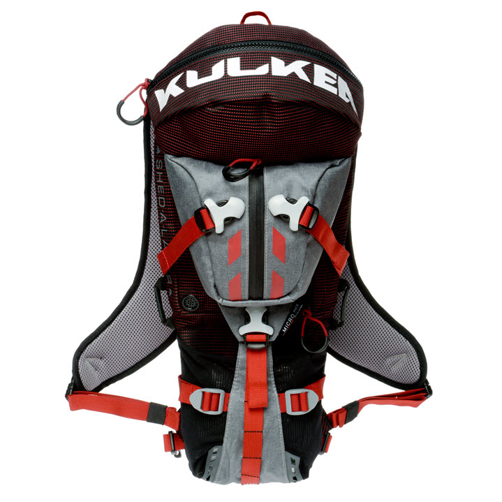 Small Active Sport Backpack Kulkea Micro Pack Red Grey