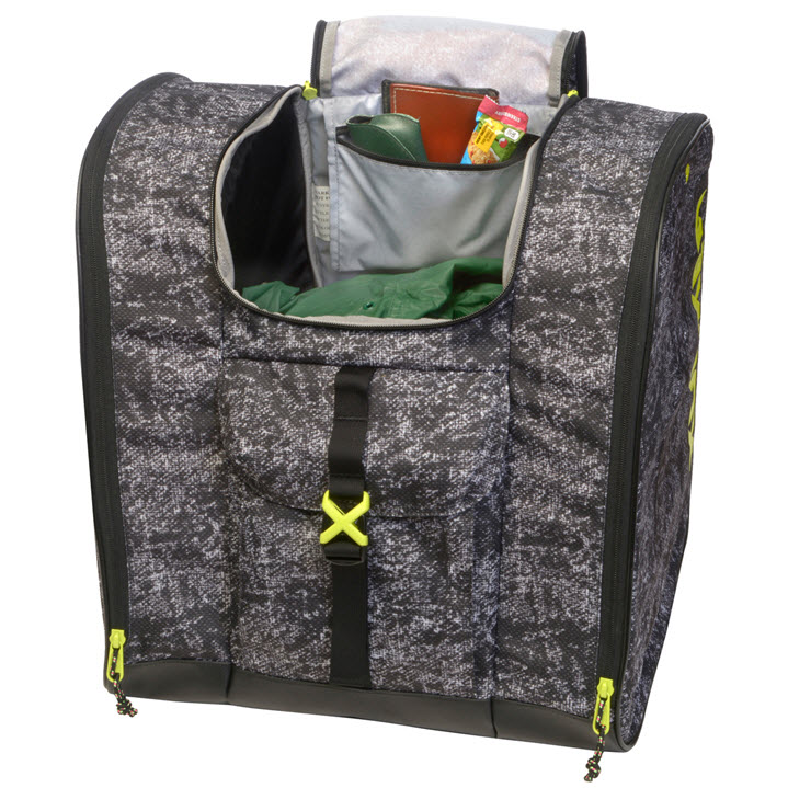 Black Yellow Pattern Ski Boot Bag Talvi X Kulkea