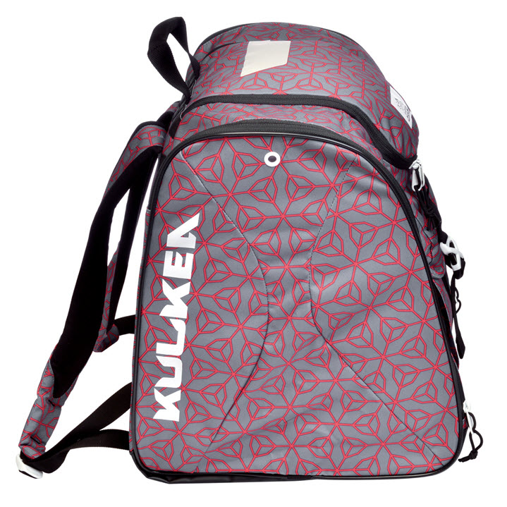 Grey Red Pattern Ski Boot Bag Talvi X Kulkea