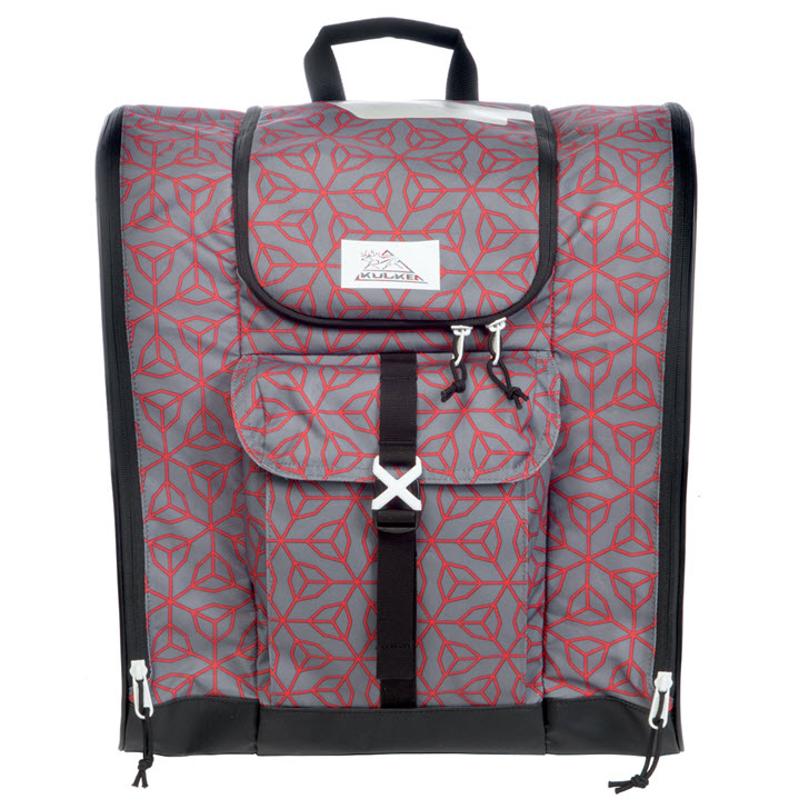Grey Red Ski Boot Bag Kulkea Talvi X