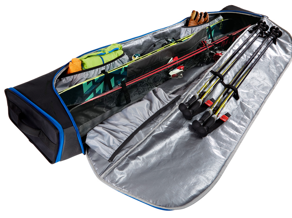 Wheeled Ski Bag Kulkea Kantaja Double