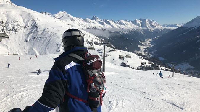 Skiing St Anton Austria