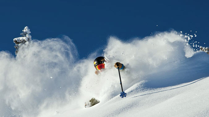 Skiing Alta Powder