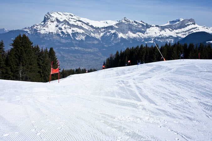Ski slopes around Saint Gervais