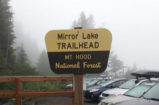 Mirror Lake Mt Hood