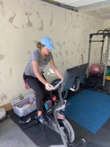 Julia Krass exercising