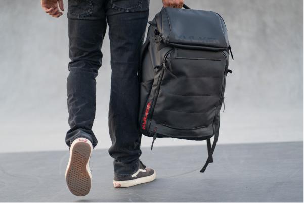 Nick Goepper carrying Limited Edition Kayda Backpack Kulkea