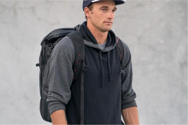 Nick Goepper wearing Limited Edition Kayda Backpack Kulkea