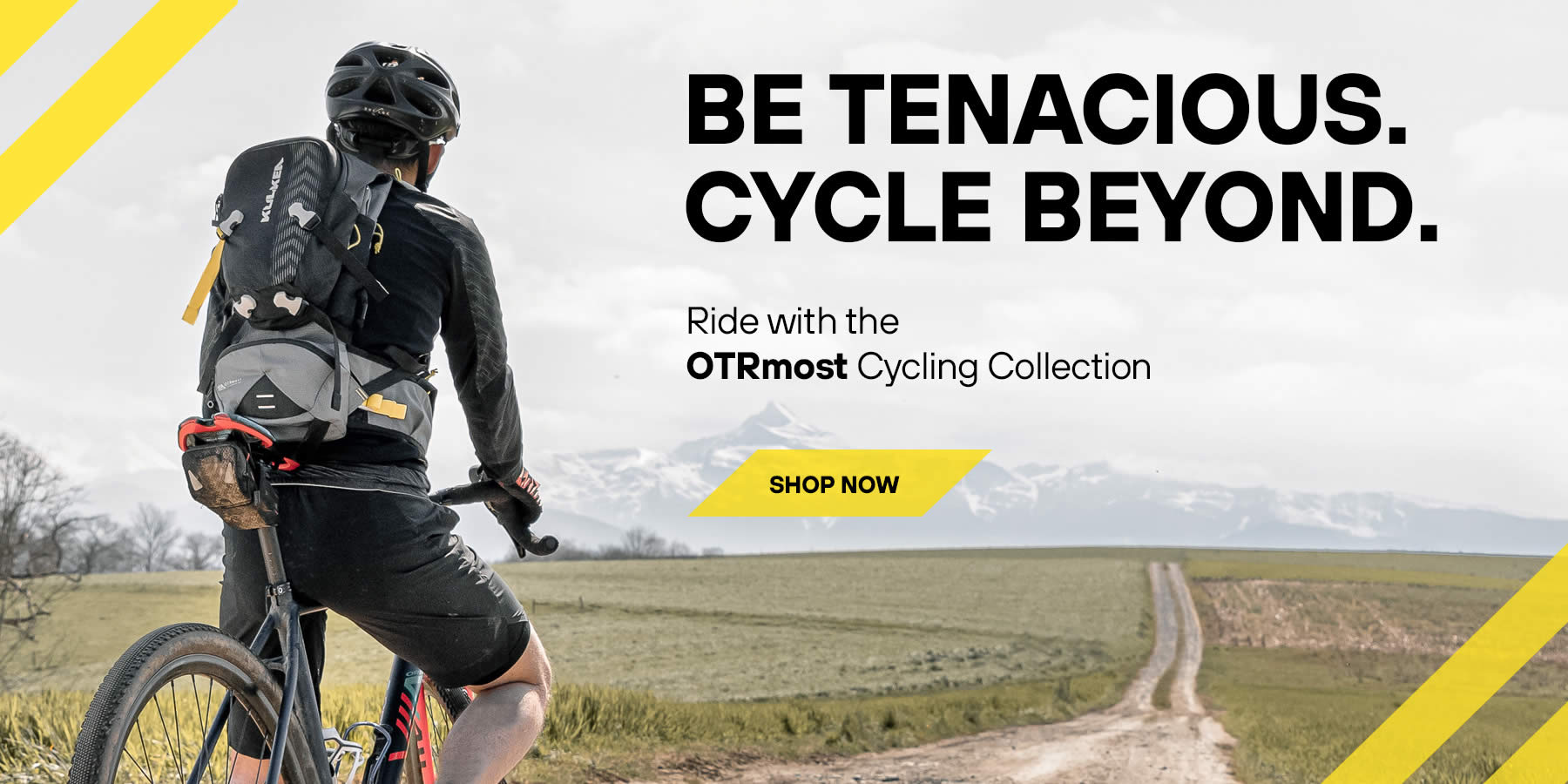 Be Tenacious. Cycle Beyond. Ride with the OTRmost Cycling Collection - Kulkea Pack, Bags, Tool Roll Shop Now!